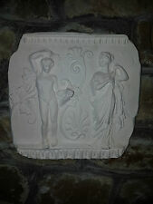 Greek Lady Gent ornate decorative ornate plaster wall hanging detail plaque new