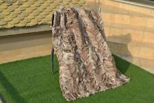 "Genuine Real Blue FOX FUR red silver Pelz Blanket Throw quilt 57""x41"" rug B3758"