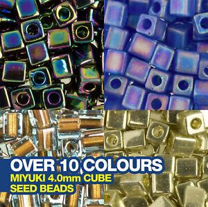 Miyuki 4.0mm Cube Seed Beads 20g Tube (approx 200 beads)