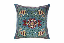 Silk Hand-Embroidered Suzani Pillow Cover, Suzani Pillow, Decorative Pillow,SP48