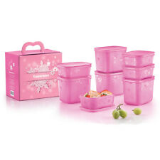 Tupperware 2 In 1 Chill Freez Food Containers Set -Pink Frosting - Free Shipping