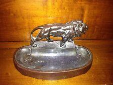 Beautiful Antique A.C. Rehberger Co Chicago Lion Cast Iron Art Deco Ashtray Roar