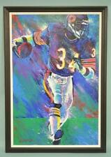 WALTER PAYTON Hand Signed LIFESIZE ORIGINAL PAINTING by BILL LOPA CHICAGO BEARS