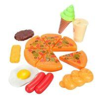 13 stuecke Lustige Kinder Kunststoff Pizza Cola Eis Lebensmittel Kueche Rolle OE