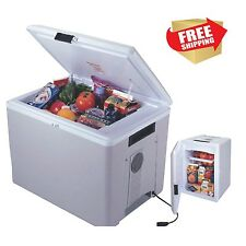Travel Cooler Warmer 36 Quart Personal Caddy Car Mini Fridge Portable 12v Truck