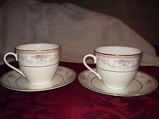 Mikasa Spring Crest 2 Cups & 2 Saucers, Excellent condition, no chips/cracks