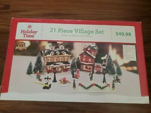 Holiday Time Christmas Village  vintage Victorian 2014