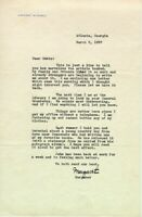 MARGARET MITCHELL - TYPED LETTER SIGNED 03/08/1937