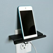 Wall outlet shelf for IPhone and IPad cube charger works with all apple models