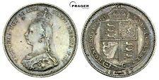 PRAGER: Großbritannien Victoria, 1 Shilling 1887 [1132]