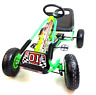 Childrens Go Kart Kids Pedal Ride On Car Racing Toy Rubber Tyres Wheels Go