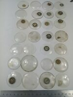 28 Vintage Watch Glasses / Crystals Large Sizes- Watchmakers NOS (G13)