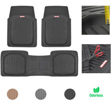 Car Rubber Floor Mats for All Weather Protection Semi Custom Fit 3 Pieces Set