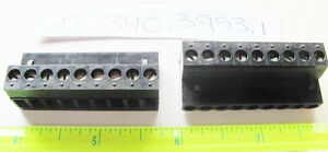 Wieland 25.340.3953.1 PCB Female Connector 5.08mm, 9 Position, Pluggable, Black