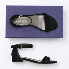 Stuart Weitzman Nudistflat Black Suede Sandals - Size 6 W