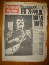 MELODY MAKER 1972 NOV 11 LED ZEPPELIN T REX SANTANA