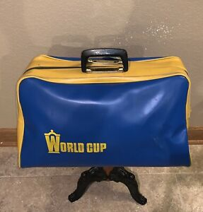 Vintage 1958 World Cup Sweden FIFA Soccer Futbol Duffle Bag Blagult Blue Yellow