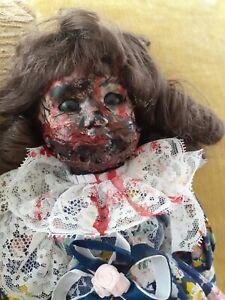 OOAK Creepy Porcelain  Doll Halloween Prop