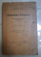 L'EXPERIENCE RELIGIEUSE ESSAI DE PSYCOLOGIE DESCRIPTIVE ABAUZIT BOUTROUX JAMES