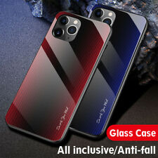 Case For iPhone 12/11 Pro Max/Xs/Xr/7 8+ Luxury Tempered Glass Hard Phone Cover