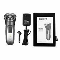 RUNWE Rs980 Waterproof Rechargeable Cordless Rotary Shaver with Beard Trimmer