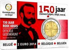 CoinCard - 2 EURO - BELGIQUE  BELGIUM - 2014 - 150 ANS DE LA CROIX ROUGE - BU