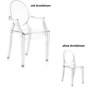 Ghost Stuhl mit/ohne Armlehnen Transparent Modern Klassiker Schminktisch NEU