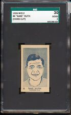 "1921 W512: Babe Ruth #6 ""New York Yankees""  SGC 30 2 Sharp"