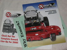 2000 eXmark PROFESSIONAL TURF CARE EQUIPMENT RIDING LAWN MOWERS BROCHURE MINT