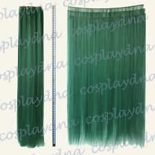 """24"""" Dark Green Heat Stylable Hair Weft Extention (3 pieces) Cosplay DNA 7DGE"""