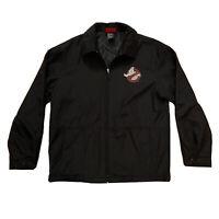 Ghostbusters Full Zip Jacket ID Wear Black Polyester Front Logo Men's Medium