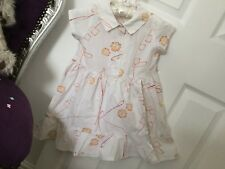 Girls Cakewalk Dress 6 Years Pretty White Cotton With A Delicate Print BNWOT