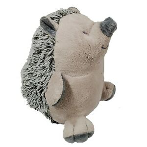 Grey Hedgehog with White and Green Spines Plush Door Stopper 2.3 Pounds New