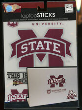 "MISSISSIPPI STATE UNIVERSITY 5 Laptop Decals 5 3/8"" & smaller peel n stick new"