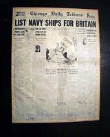 LEND-LEASE Program Franklin D. Roosevelt FDR SIGNS INTO LAW 1941 WWII Newspaper