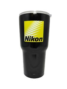 Nikon Tumbler Travel Cup Hot Cold Mug 30oz Black