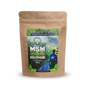 MSM ORGANIC SULPHUR (SULFUR STUDY SUPPLIED) 250G