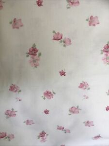 Vintage Laura Ashley Cotton Fabric Remnant Abbeville Pink Patchwork Crafts