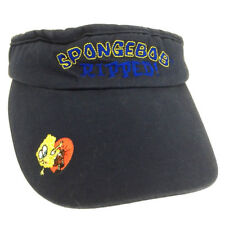 55371e4aa2c Spongebob Ripped Sun Visor Logo Nickelodeon Golf Beach Hat Boating Cap Navy  Blue