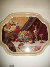 Vintage mid century decorative metal tray made in England by Tray Manufacturing