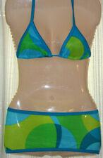 bikini top set tube skirt swimwear neon clubwear festival dancewear bandeau