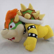 "Super Mario Bros. Bowser Lie King Koopa 10"" Plush Soft Toy Stuffed Animal DOLL"