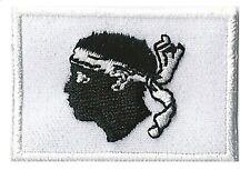 Ecusson patche Corse Corsica insigne patch thermocollant badge 45 x 30 mm