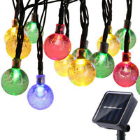 Outdoor 30LED Solar Powered String Ball Light Waterproof Garden Party Decor Lamp