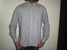 BURTON STRIPED FITTED LONG SLEEVE SHIRT SIZE LARGE