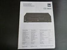 Original Service Anleitung Dual CD 3600