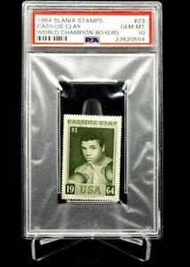 1964 Slania Stamps Cassius Clay World Champion Boxers Muhammad Ali PSA 10