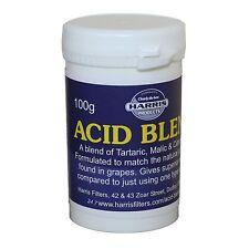 Harris Acid Blend 100g tub. (Citric, Tartaric, Malic) for wine cordial making