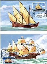 6 Maximumkarten MK Sao Tome und Principe 1979 Nr 598 - 603 Segel Schiffe MK153