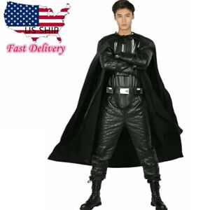 Darth Vader Costume Black Cosplay  Clothing Belt Cape Props Halloween Full Set